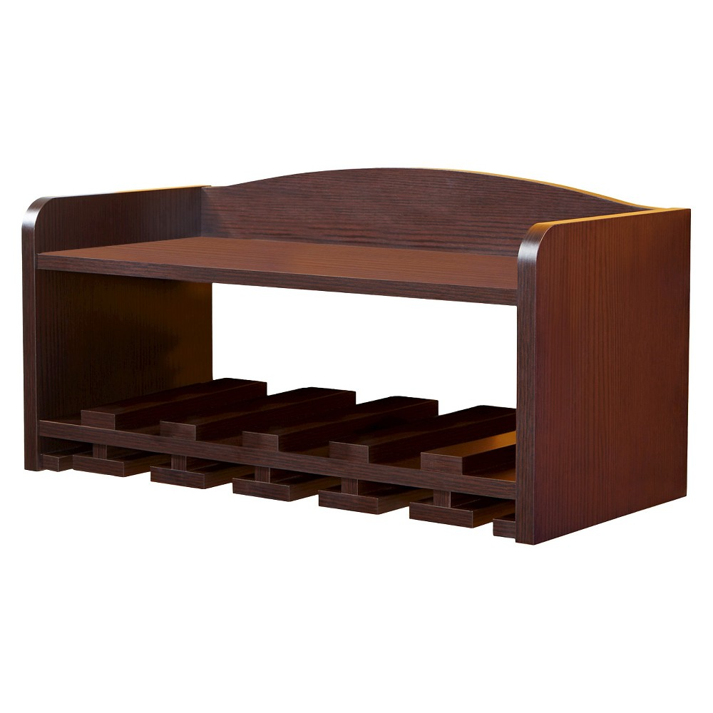 Image of Caprice Modern Wall Mounting Wine Rack Walnut - HOMES: Inside + Out, Brown