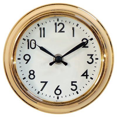 Schoolhouse 6  Table Clock Brass - Threshold™