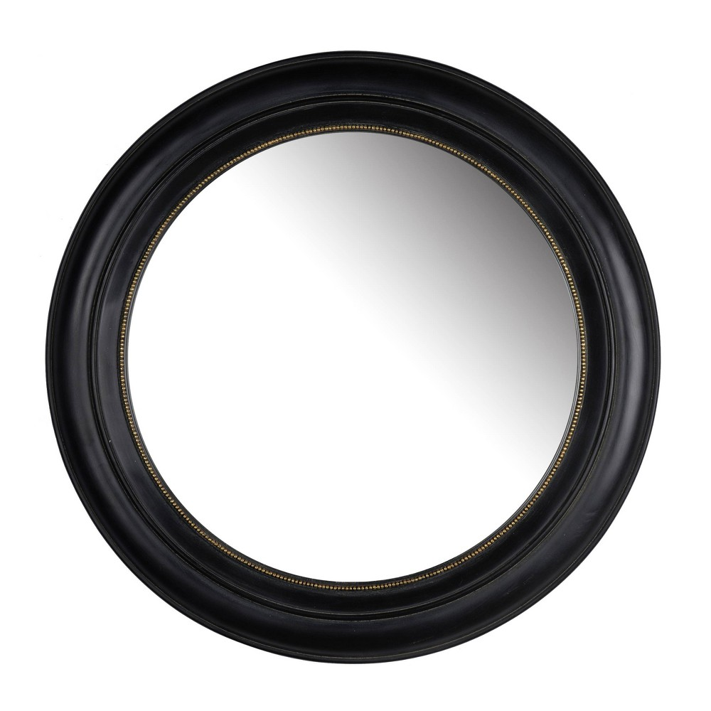 "Image of ""20.5"""" Sable Round Mirror Black - A&B Home"""