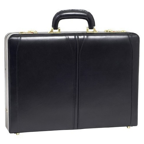 "McKlein Lawson Leather 3.5"" Attache Briefcase (Black) - image 1 of 1"