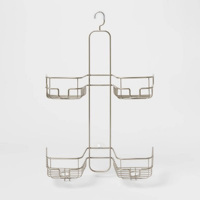 Hose Round Wire Shower Caddy Silver - Made By Design™