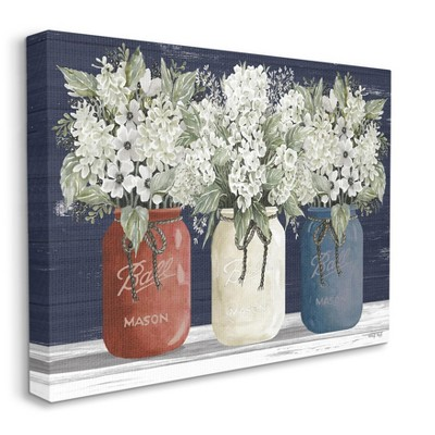 Stupell Industries Americana Floral Bouquets Rustic Flowers Country Pride