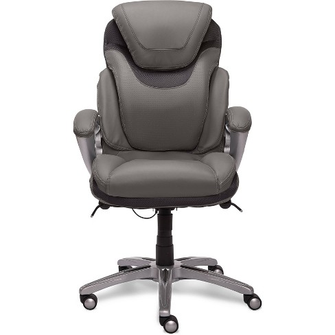 AIR Health & Wellness Executive Chair Gray Leather - Serta - image 1 of 20