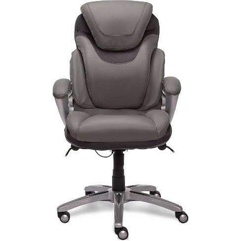 AIR Health & Wellness Executive Chair Gray Leather - Serta - image 1 of 4