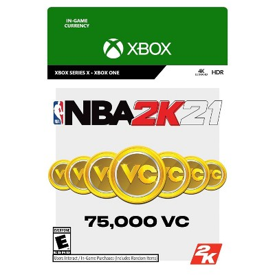 NBA 2K21: 75,000 Virtual Currency - Xbox One/Series X (Digital)