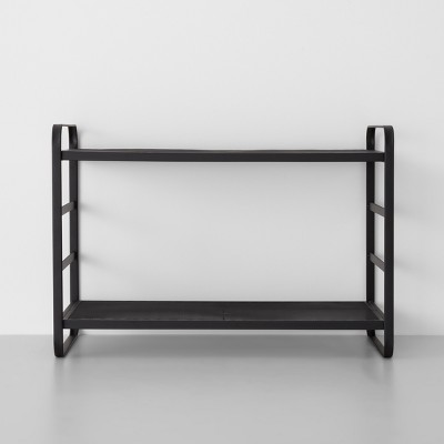 Two Tier Wire Mesh Shoe Rack Black - Made By Design™