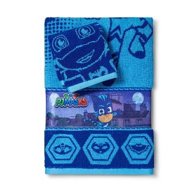 2pc PJ Masks Rooftop Powers Bath Towel and Washcloth Set