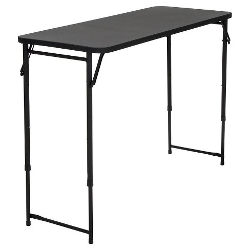 "Rectangle Adjustable Height Folding Table - 20X48"" - Black - Cosco - image 1 of 5"