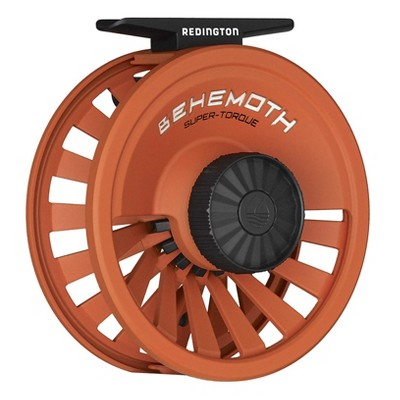 Redington 5-5506R78O Behemoth 7/8 Spool Heavy-Duty Adjustable Drag Carbon Fiber Fly Fishing Reel, Orange