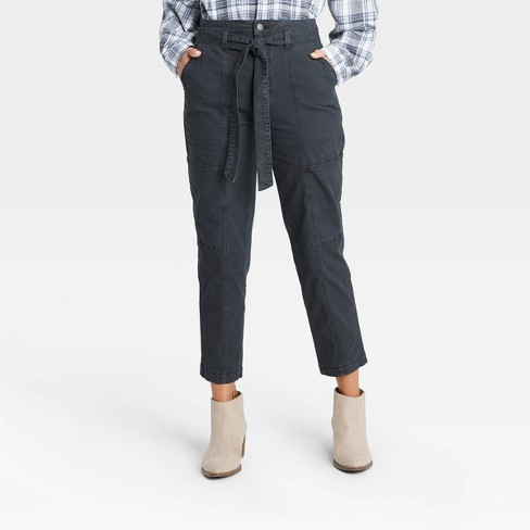 Women's High-Rise Tapered Cropped Pants - Universal Thread™ - image 1 of 4
