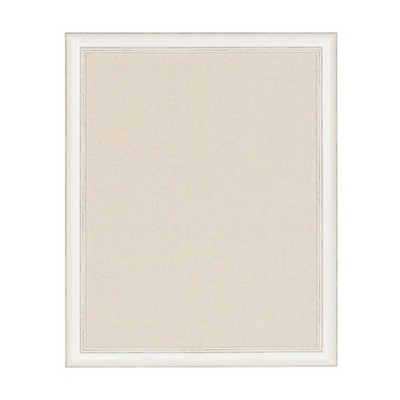 """23"""" x 29"""" Macon Framed Linen Fabric Pinboard White - Kate and Laurel"""