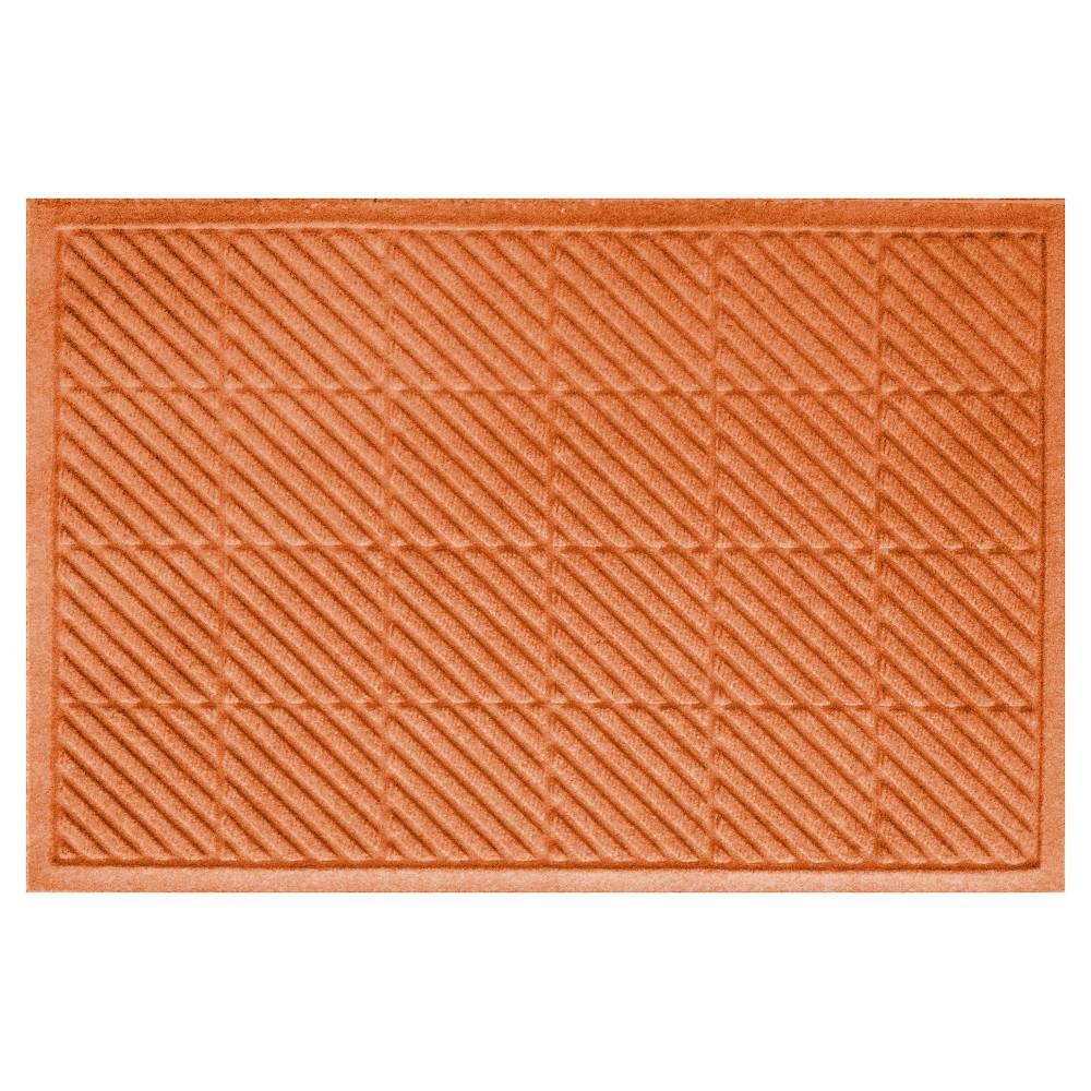 Orange Solid Doormat - (2'X3') - Bungalow Flooring