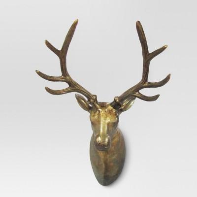 Deer Bust Wall Sculpture - Brass - Threshold™