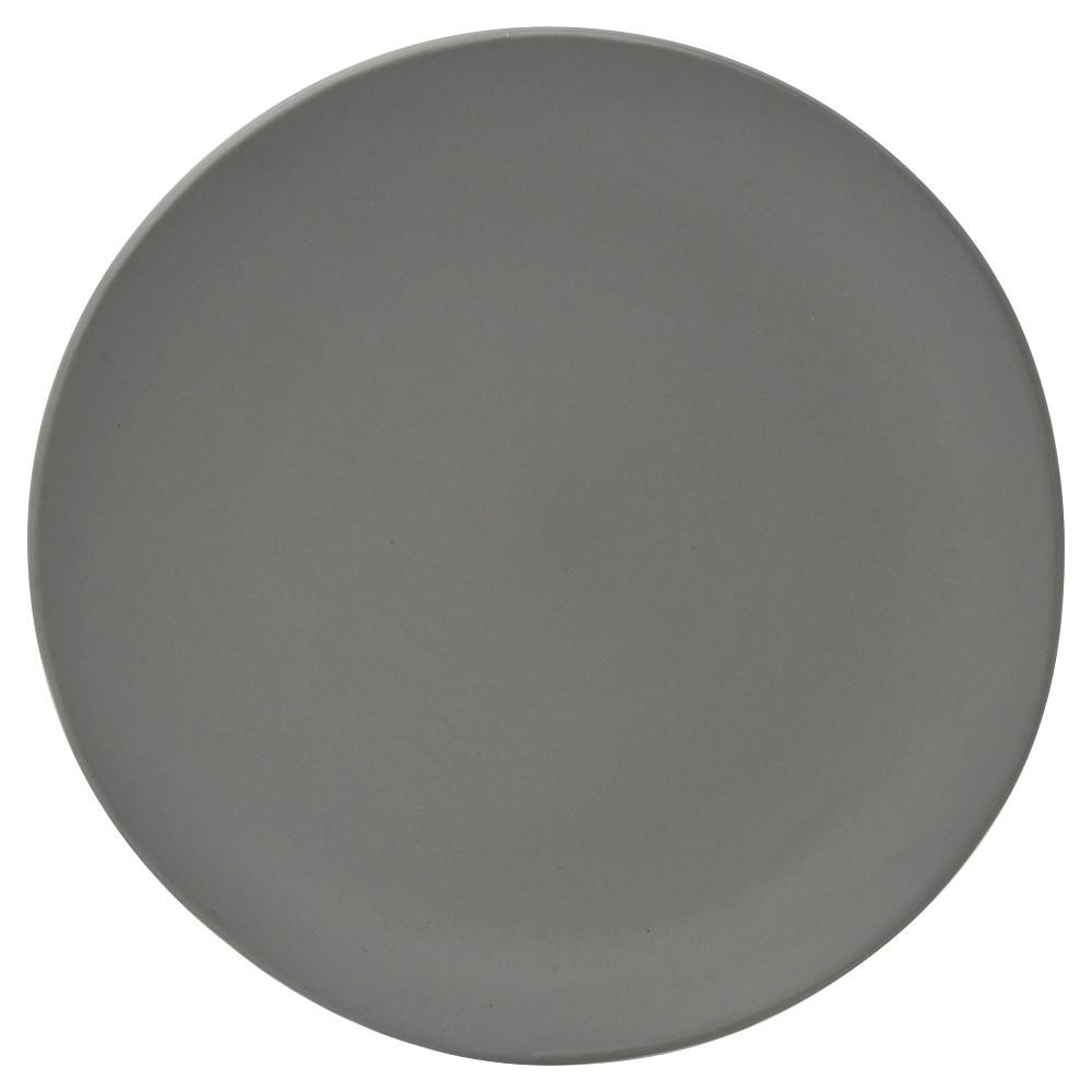 10 Strawberry Street Matte Wave Stoneware Salad Plates 8 Gray - Set of 6