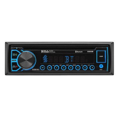 Boss Audio Systems 550B Single DIN Panel Car USB AUX CD Bluetooth Stereo Receiver Digital Multimedia Music Player with Built In EQ and Wireless Remote