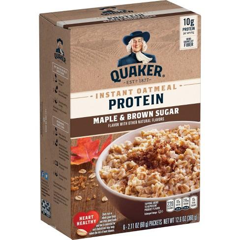 Quaker Instant Protein Maple Brown Sugar - 12.6oz - image 1 of 4