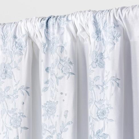 Tremendous Curtain Panels Blue Opaque Floral 95 Simply Shabby Chic Download Free Architecture Designs Xerocsunscenecom