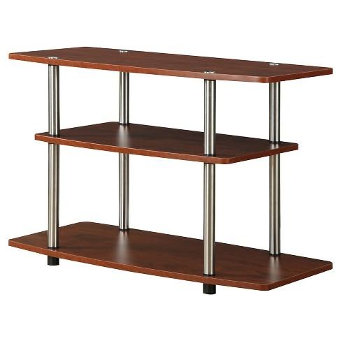 3 Tier TV Stand Cherry - Johar Furniture - image 1 of 3