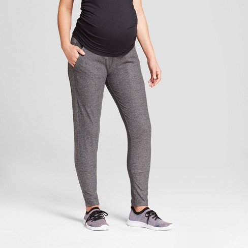 Maternity Straight Fit Over the Belly Sweatpants - C9 Champion® Dark Heather Gray - image 1 of 5