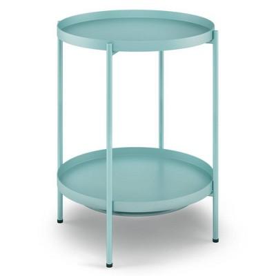 Lipton Metal End Table Aqua - WyndenHall