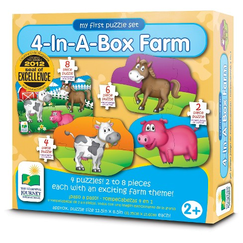 The Learning Journey My First Puzzle Sets 4-In-A-Box Puzzles, Farm 20pc - image 1 of 2