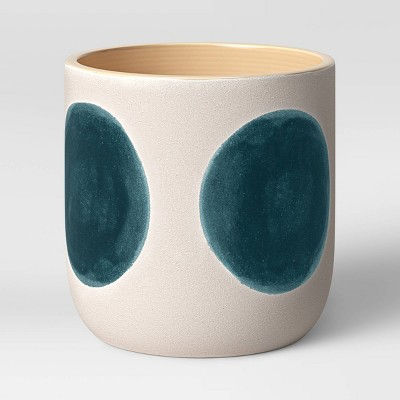 "6"" Ceramic Stoneware Planter White with Blue Dots - Project 62™"