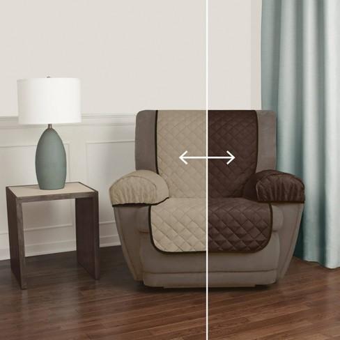 Sensational Chocolate Reversible Pet Cover Microfiber Recliner Slipcover 3 Piece Maytex Alphanode Cool Chair Designs And Ideas Alphanodeonline