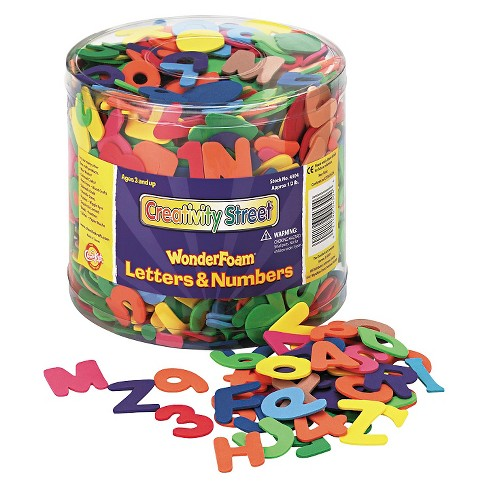 Creativity Street Wonder Foam Letters and Numbers 1/2lb Tub 1500pc - image 1 of 1