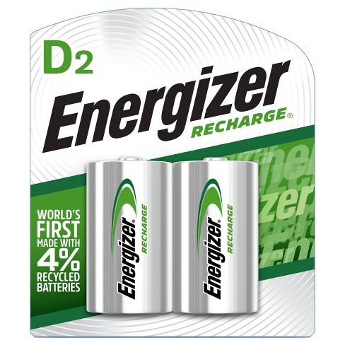 Energizer 2pk Recharge Universal Rechargeable D Batteries - image 1 of 2