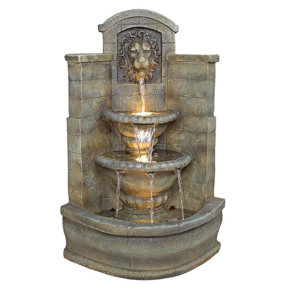 Image of Saint Remy Lion Corner Fountain - Acorn Hollow