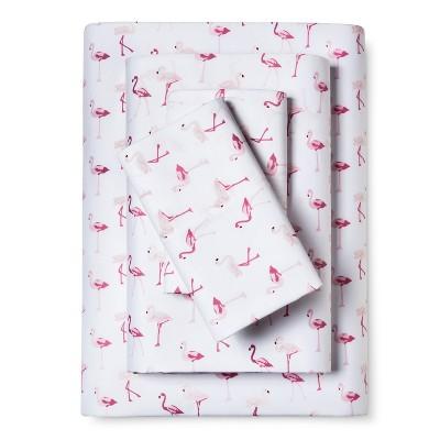 Whimsical Flamingo Print Sheet Set (King)Pink - Elite Home