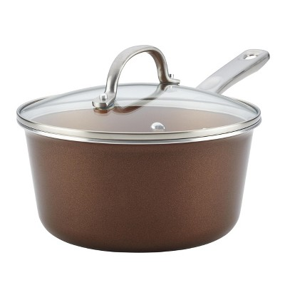 Ayesha Curry 3qt Covered Saucepan Brown