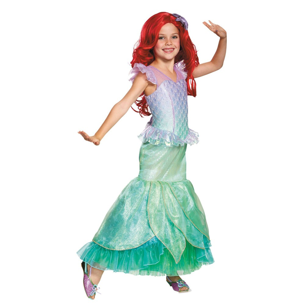 Halloween Girls' The Little Mermaid Ariel Deluxe Halloween Costume M, Girl's, Size: Medium, MultiColored