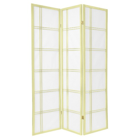 6 ft. Tall Double Cross Shoji Screen - Special Edition - Ivory (3 Panels) - image 1 of 1
