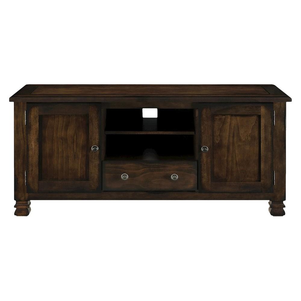 Dale Ridge Wood Veneer TV Stand For TVs Up To 55 Espresso - Room & Joy, Brown