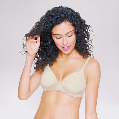 81c9fb3e95b63 Hanes® Women s Ultimate ComfortBlend® T-Shirt Wirefree Bra HU03 - Oatmeal  Heather 34C   Target
