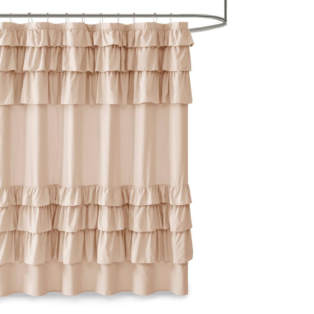 "Image of ""72""""x72"""" Abby Ruffled Shower Curtain Blush"""