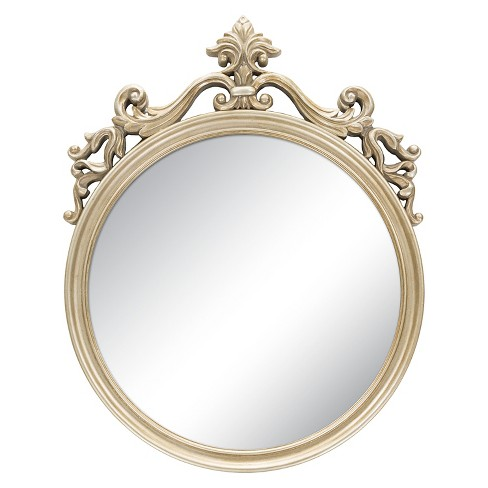 Square Bristow Decorative Wall Mirror Champagne - Surya - image 1 of 1