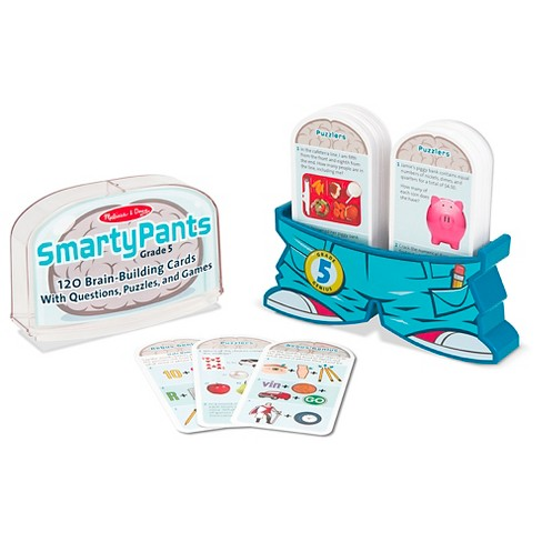 Melissa & Doug Smarty Pants 5th Grade Card Set 120 Educational Brain-Building Questions Puzzles and Games - image 1 of 3
