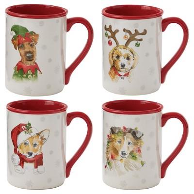 Park Designs Holiday Paws Mug Set - Red