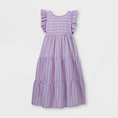 Girls' Tiered Woven Maxi Dress - Cat & Jack™