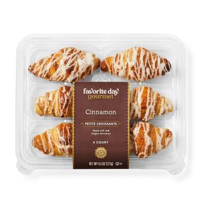 Cinnamon Petite Croissants - 4.5oz/6ct - Favorite Day™