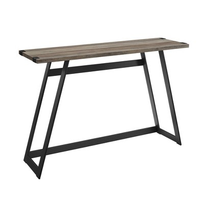 Urban Industrial Entry Table with Wood and Metal - Saracina Home