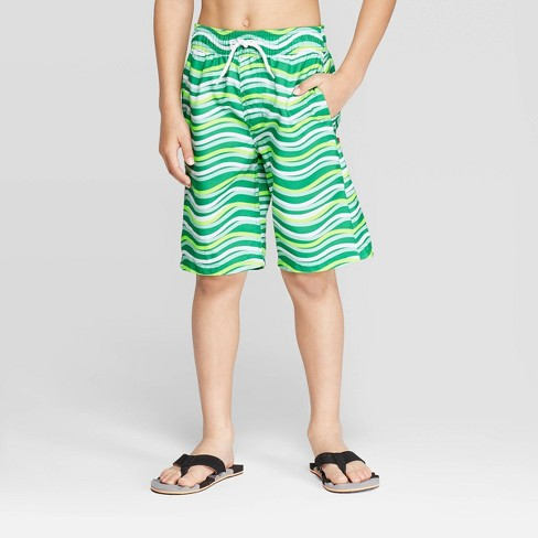 Boys' Wavy Days Swim Trucks - Cat & Jack™ Green - image 1 of 3