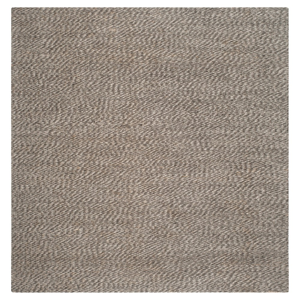 Simona Natural Fiber Area Rug Gray Gray 8 39 X 8 39 Safavieh