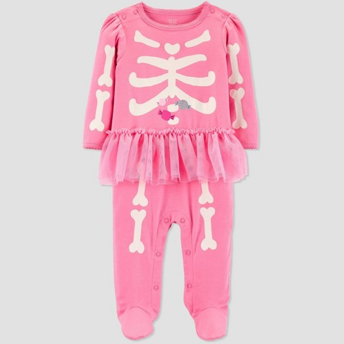 Baby Girls' Halloween Pink Skeleton Tutu Sleep N' Play - Just One You® made by carter's - image 1 of 1