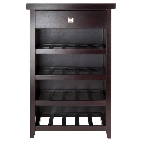 Zillah 20 Bottle Wine Cabinet With Serving Tray Woodespresso