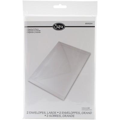 "Sizzix Plastic Envelopes 2/Pkg-6.25""X9"""