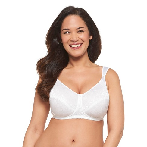 61192d61fd Just My Size® Women s Gel Cushion Strap Wireless Bra 1105 White - 48DD    Target