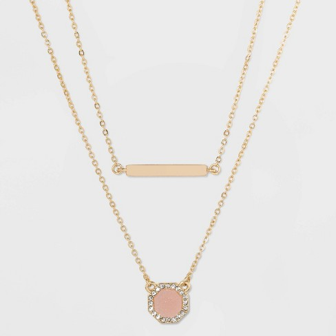 SUGARFIX by BaubleBar Gold Bar and Pendant Layered Necklace - image 1 of 4